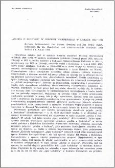 """""""Walka o kulturę"""" w Diecezji Warmińskiej w latach 1933-1944 : [recenzja]"""