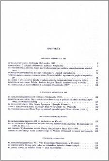 Studia Warmińskie T. 27 (1990) - spis treści