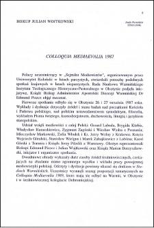 Colloquia Mediaevalia 1987
