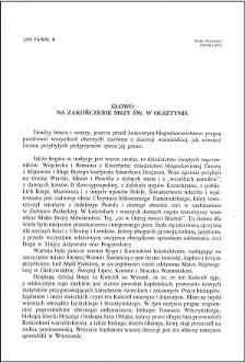 Słowo na zakończenie Mszy św. w Olsztynie