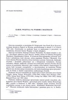 Karol Wojtyła na Warmii i Mazurach