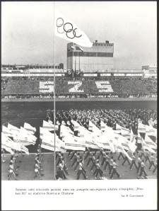 """[Sztafeta olimpijska """"Moskwa 80"""" na stadionie Stomilu w Olsztynie]"""