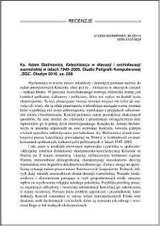Ks. Adam Bielinowicz, Katechizacja w diecezji i archidiecezji warmińskiej w latach 1945-2005 : [recenzja]