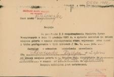 Zezwolenie na zmianę miejsca pobytu w czasie obowiązywania stanu wojennego 1982