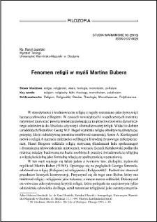 Fenomen religii w myśli Martina Bubera