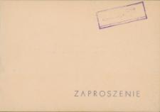 """Zaproszenie na uroczyste otwarcie pięćsetnego Klubu Prasy i Książki """"Ruch"""" na Warmii i Mazurach 1967"""