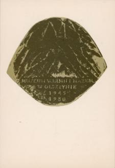 """Zaproszenie na otwarcie wystawy """"Biskupin - Polskie Pompeje"""" 1981"""