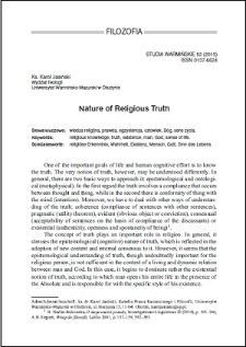 Nature of religious truth