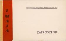Zaproszenie na akademię 1 Majową 1966