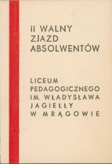 Zaproszenie na II walny zjazd absolwentów LP w Mrągowie 1967