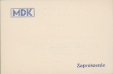 Zaproszenie na pośmiertną wystawę mrągowskiego artysty Tadeusza Borowskiego 1983