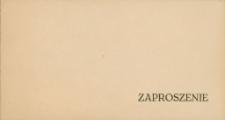 Zaproszenie na wieczornicę z okazji 29. rocznicy wyzwolenia Mrągowa 1974