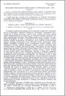 Początki hierarchii kościelnej w Prusach (1206-1255) : część II