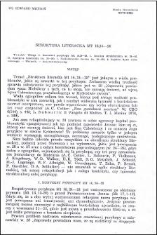 Struktura literacka Mt 16,24-28