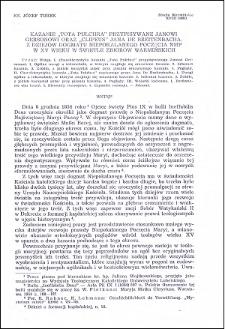 """Kazanie """"Tota pulchna"""" przypisywane Janowi Gersonowi oraz """"Clipeus"""" Jana de Breitenbacha : z dziejów dogmatu Niepokalanego Poczęcia NMP w XV wieku w świetle zbiorów warmińskich"""