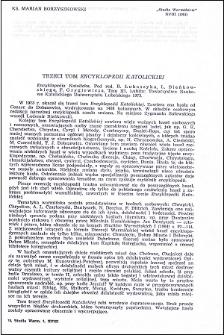 """Trzeci tom """"Encyklopedii Katolickiej"""" : [recenzja]"""