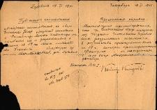 [Tymczasowe zaświadczenie na osiedlenie się 1945]
