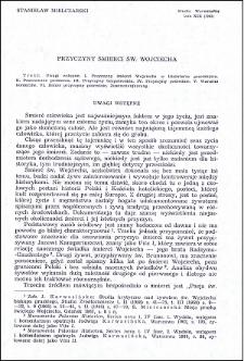 Przyczyny śmierci św. Wojciecha