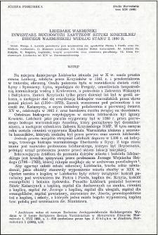Lidzbark Warmiński : inwentarz ruchomych zabytków sztuki kościelnej diecezji warmińskiej według stanu z 1980 r.
