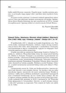 Edward Cyfus, Niezłomny Warmiak infułat Adalbert (Wojciech) Zink (1902-1969) : [recenzja]