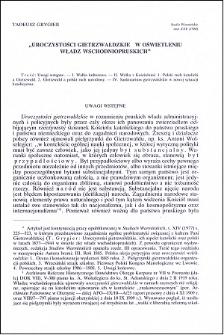 """""""Uroczystości gietrzwałdzkie"""" w oświetleniu władz wschodnio-pruskich"""
