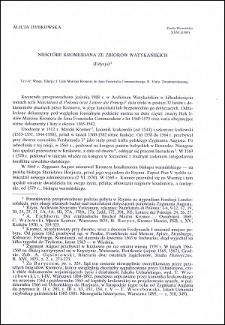 Niektóre Kromeriana ze zbiorów watykańskich : (edycja)