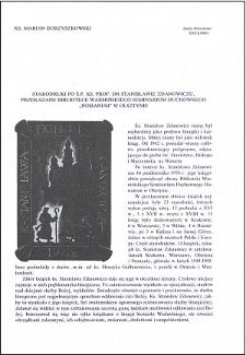 """Starodruki po ś.p. ks. prof. dr Stanisławie Zdanowiczu, przekazane Bibliotece Warmińskiego Seminarium Duchownego """"Hosianum"""" w Olsztynie"""