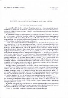 Sympozja Ekumeniczne w Olsztynie w latach 1985-1987