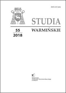 Studia Warmińskie T. 55 (2018) - cały numer