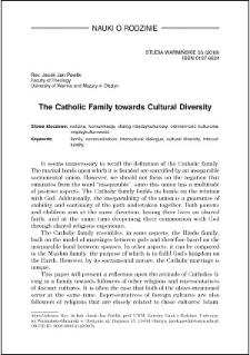 The catholic family towards cultural diversity