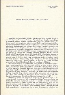Kalendarium Stanisława Hozjusza