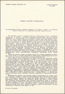 Jobert, Hozjusz i tolerancja : na marginesie książki Ambrose Joberta, : De Luther a Mohila. La Pologne Dans La Crise De La Chrétienté, 1517-1648 : [recenzja]