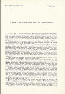 W 900-lecie śmierci św. Stanisława Szczepanowskiego