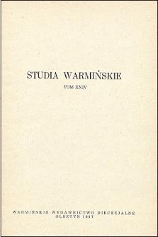 Studia Warmińskie T. 24 (1987) - cały numer