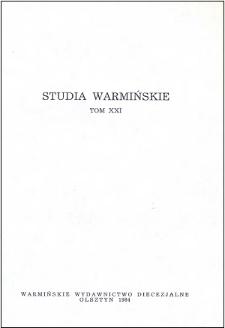 Studia Warmińskie T. 21 (1984) - cały numer