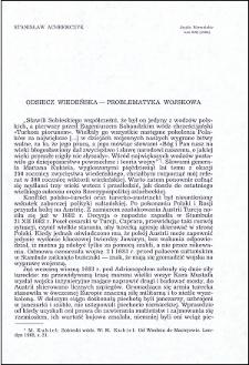 Odsiecz wiedeńska : problematyka wojskowa