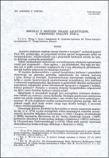Mikołaj z Mościsk, pisarz ascetyczny z pierwszej połowy XVII w.