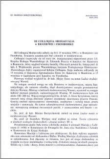 III Colloquia Mediaevalia w Braniewie i Fromborku