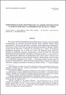 Odpowiedzialność indywidualna na Sądzie Ostatecznym w sztuce Kościoła łacińskiego od XII do XV wieku