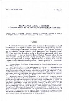 """Pierwiastek ludzki w Kościele w świetle """"Epistola de miseria curatorum"""" (GW 9842-9366)"""