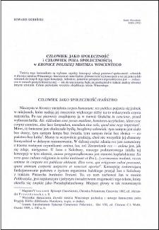 """Człowiek jako społeczność i człowiek poza społecznością w """"Kronice Polskiej"""" mistrza Wincentego"""
