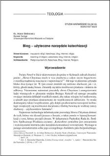 Blog - użyteczne narzędzie katechizacji