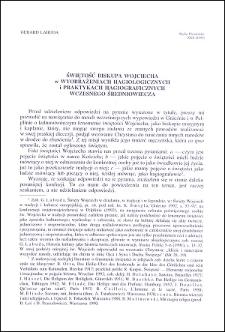 Świętość biskupa Wojciecha w wyobrażeniach hagiologicznych i praktykach hagiograficznych wczesnego średniowiecza