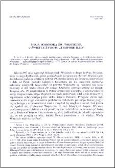 """Misja pomorska św. Wojciecha w świetle żywotu """"Tempore Illo"""""""