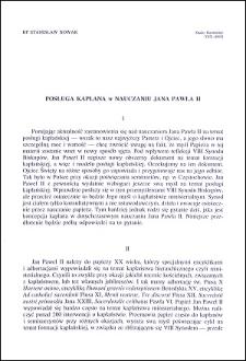 Posługa kapłana w nauczaniu Jana Pawła II
