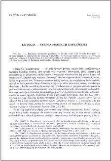 Liturgia - szkołą formacji kapłańskiej