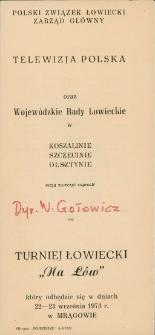 Zaproszenie na turniej łowiecki 1973