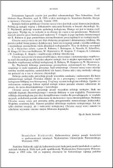 Stanisław Siekierski, Kulturotwórcze funkcje parafii katolickich w społecznościach lokalnych : [recenzja]