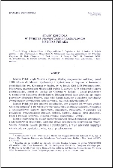 """Stany Kościoła w świetle """"Promptuarium exemplorum"""" Marcina Polaka"""