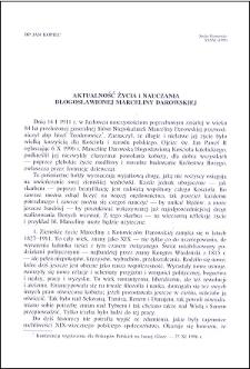 Aktualność życia i nauczania Błogosławionej Marceliny Darowskiej